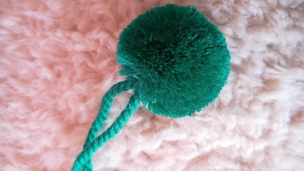 Pompon Boule en laine Vert Menthe