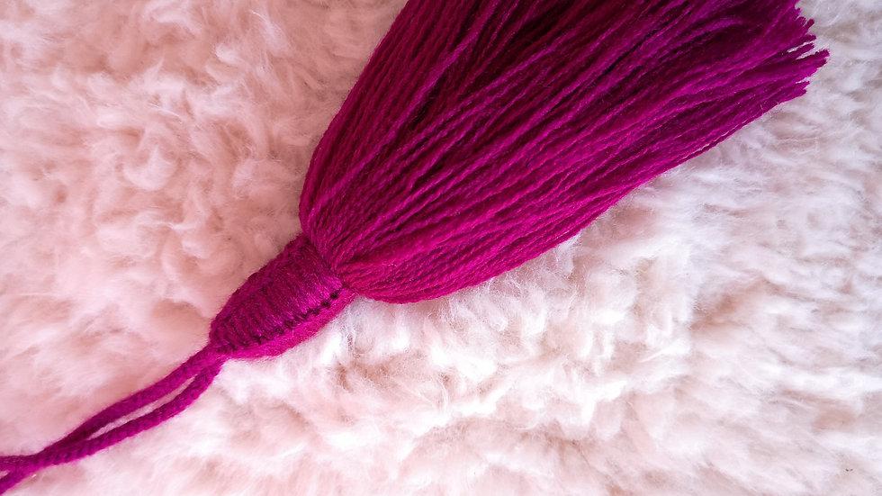 Pompon Beldi en laine Fuschia