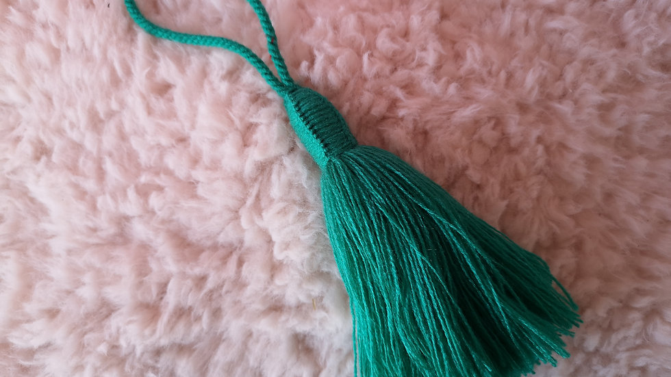 Pompon Beldi en laine Vert Menthe