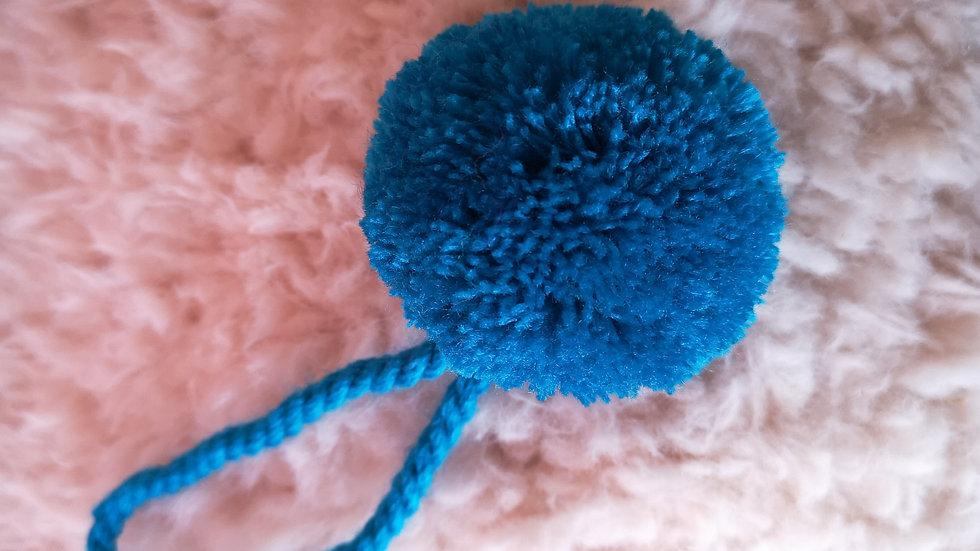 Pompon Boule en laine Turquoise