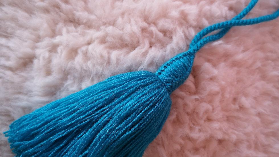 Pompon Beldi en laine Turquoise