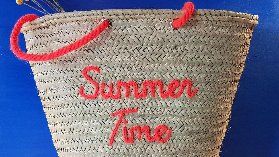 Grand cabas Summer time orange fluo