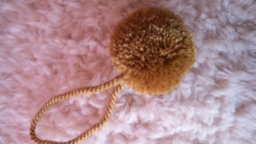 Pompon Boule en laine Or