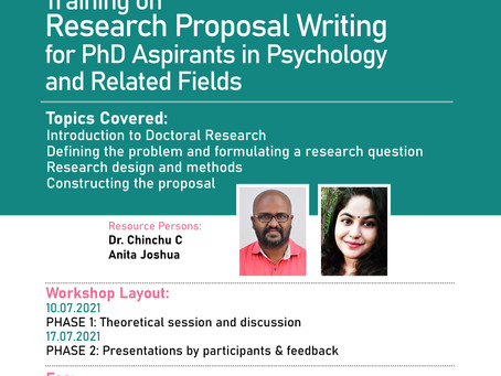 Research Proposal Writing Workshop