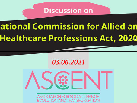 Discussion on the National Commission for Allied and Healthcare Professions Act, 2020