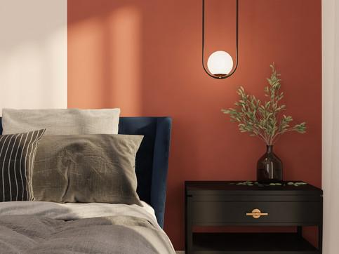 Living in color, Terracotta residence.