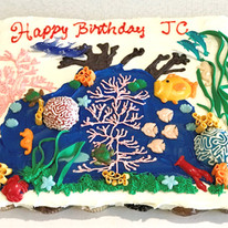Coral Reef Cupcake Pullout Cake