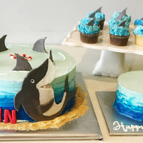 Shark Cake, Smash Cake, Cupcake