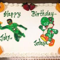 Green Lantern & Yoshi Drawing