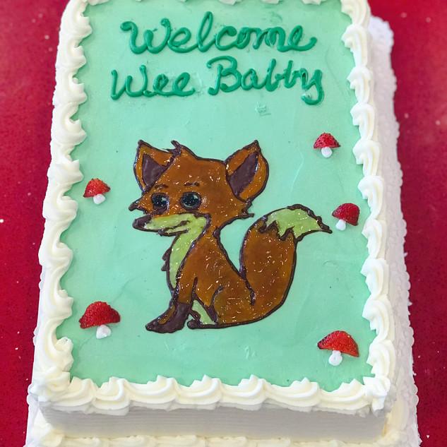 Fox Drawing Cake