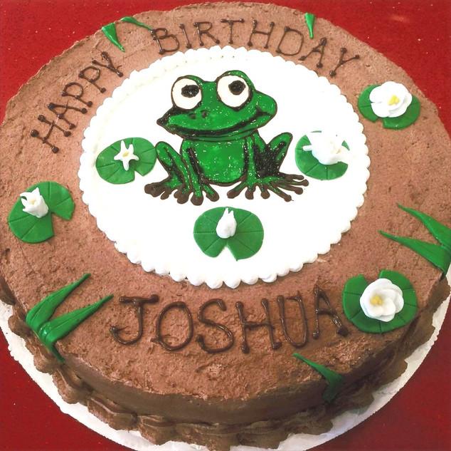 Frog Drawing Cake