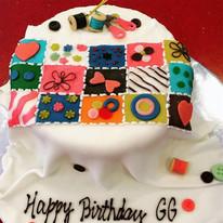 Fondant Quilt Cake