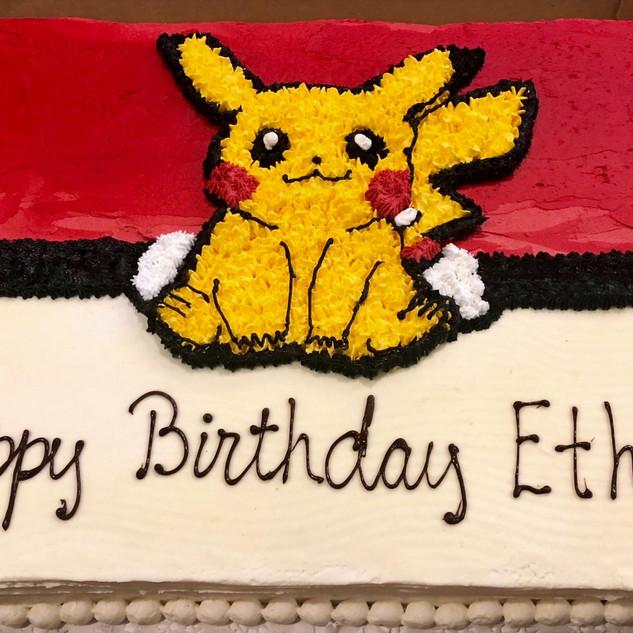 Pikachu Sheet Cake
