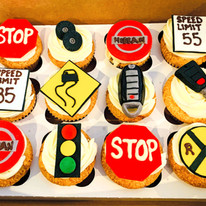 Driving Theme Cupcakes