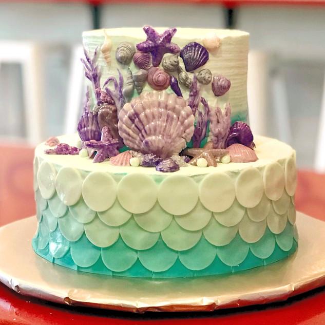 Mermaid Shell Cake