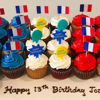 French Flag Cupcake Pullout