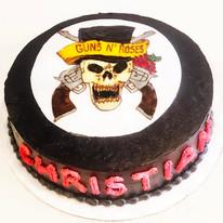 Guns n Roses Drawing Cake