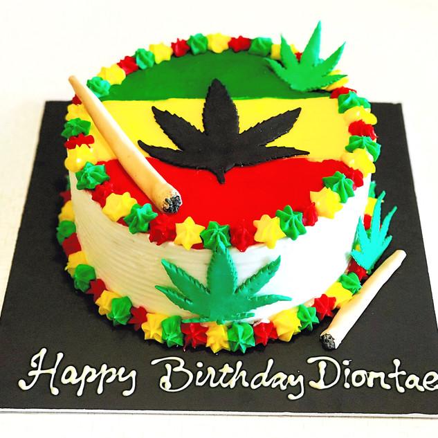 Bob Marley Doobie Cake