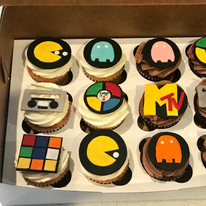 80s Theme Cupcake