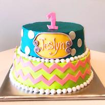 Color Block Cake 2-tier