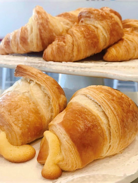 Butter Croissant and Almond Croissant