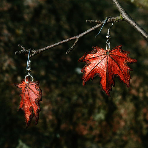 Lehtikorvakorut - Maple leaf earrings