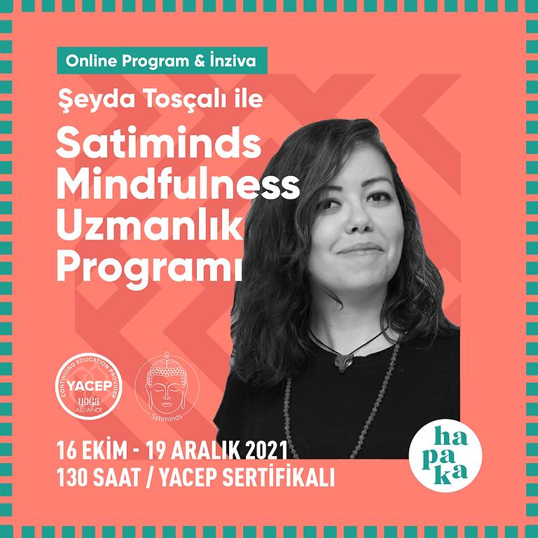 Satiminds Mindfulness Uzmanlaşma Programı 130 Saat Yoga Alliance Onaylı