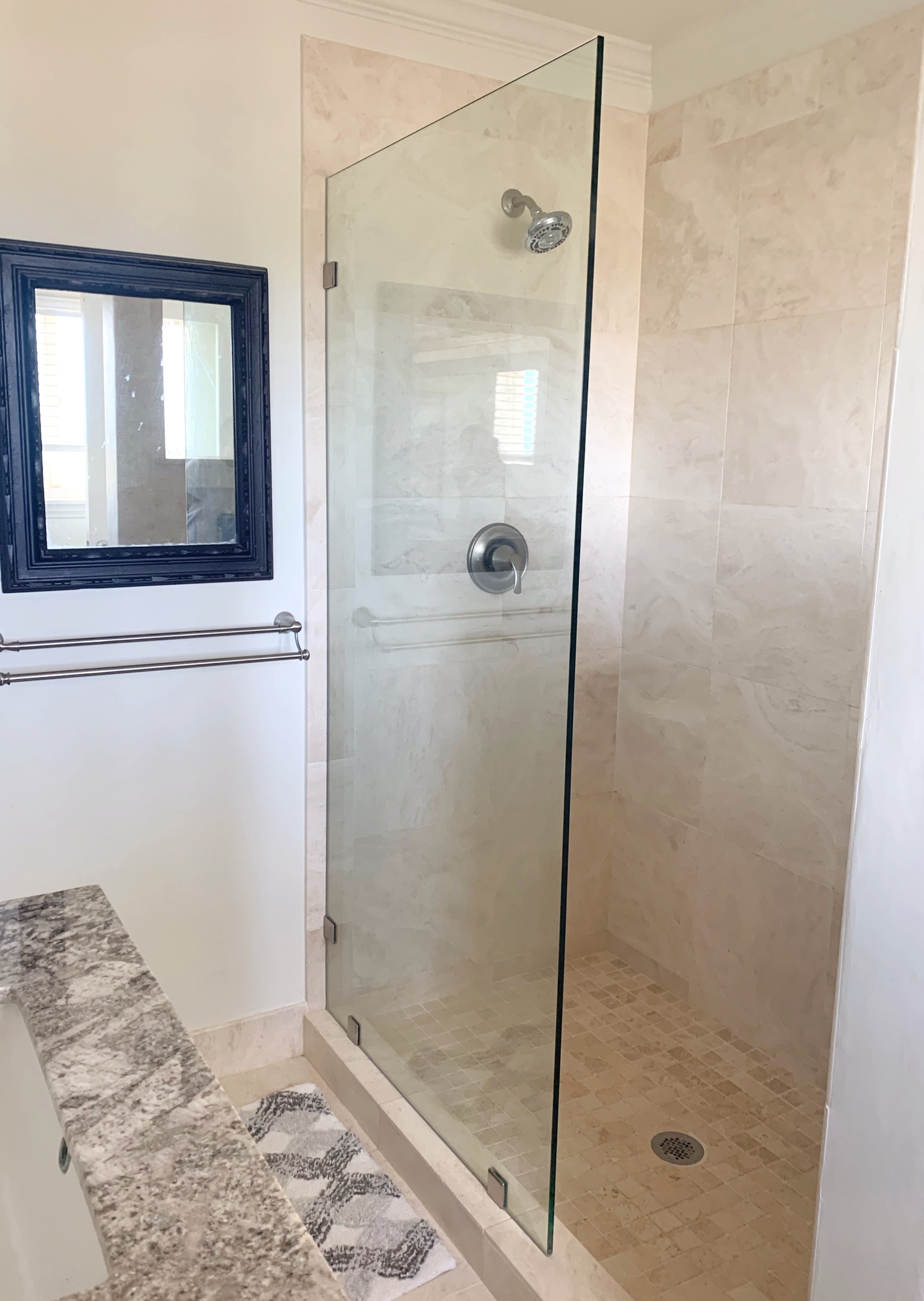 custom single shower panel