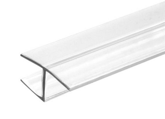 "Clear ""H"" Jamb Water Seal In Line Panel (Hard Leg)"