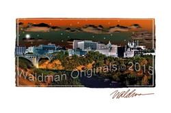 Starry Night Spokane-edged
