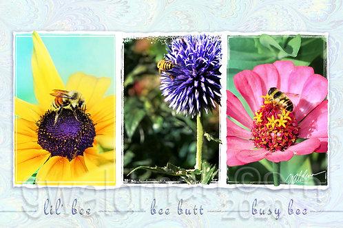 Bee Trio-5x7 art card