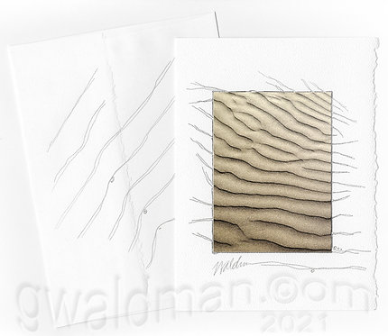Sand-with pencil accents