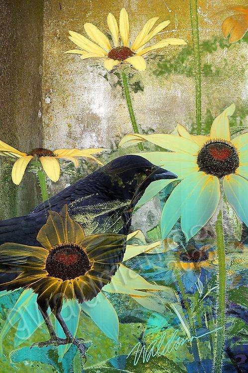 Summer Crow-5x7 art card
