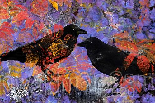 Autumn Purples Duet - 5x7 art card