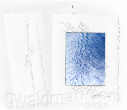 Cloud Pattern-with pencil accents