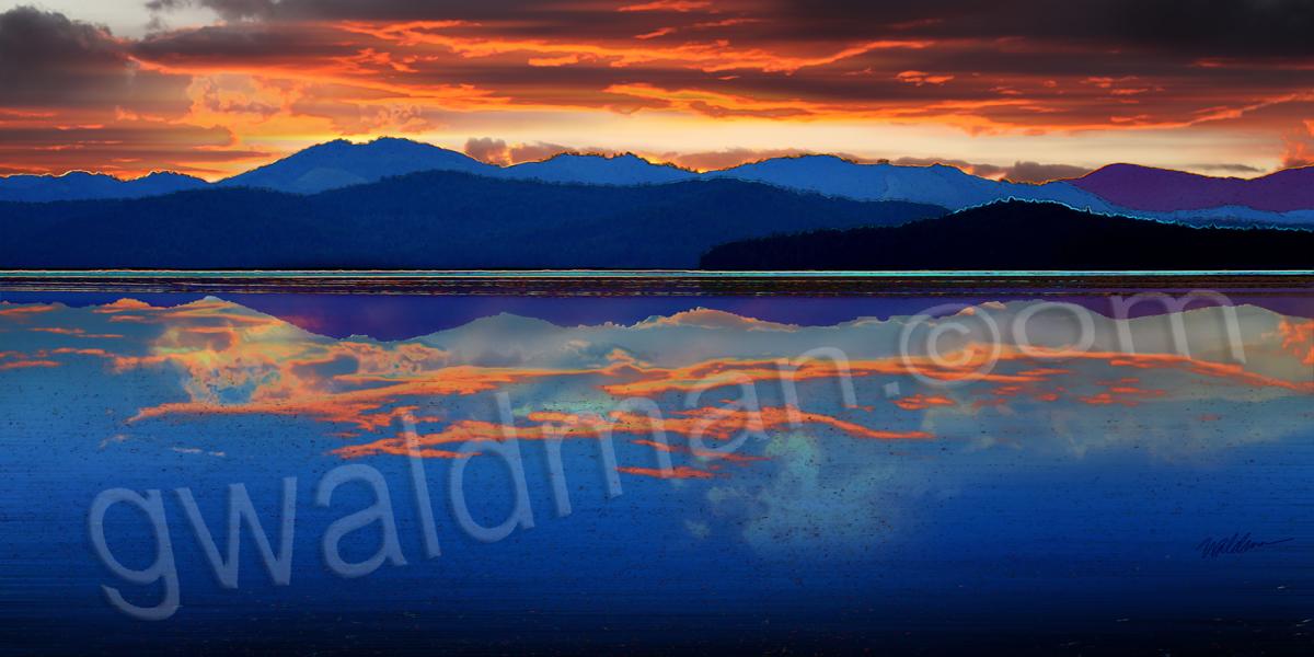 Western Lake Sky