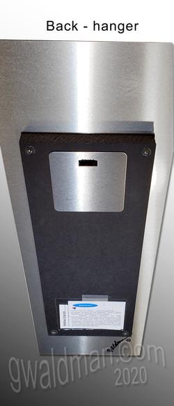 Back side of aluminum print