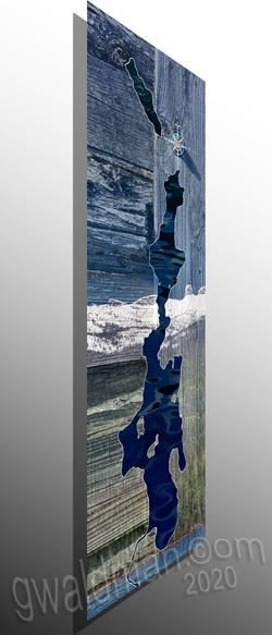 PL Map-Chimney Rock - flat aluminum print
