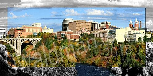 Spokane Skyline with border