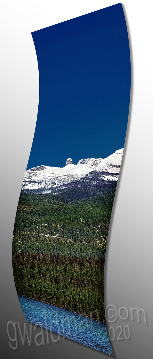 Chimney Rock III - curved aluminum print