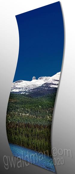 Chimney Rock III - curved aluminum print
