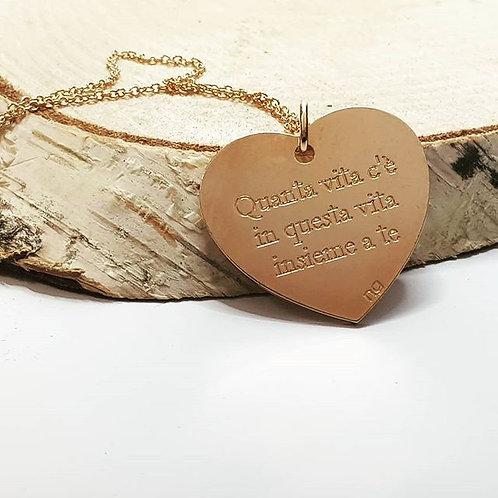 Collana cuore personalizzata