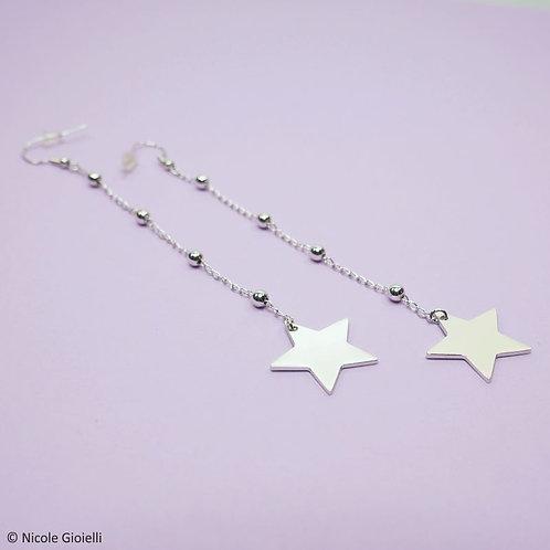 Orecchini lunghi stella