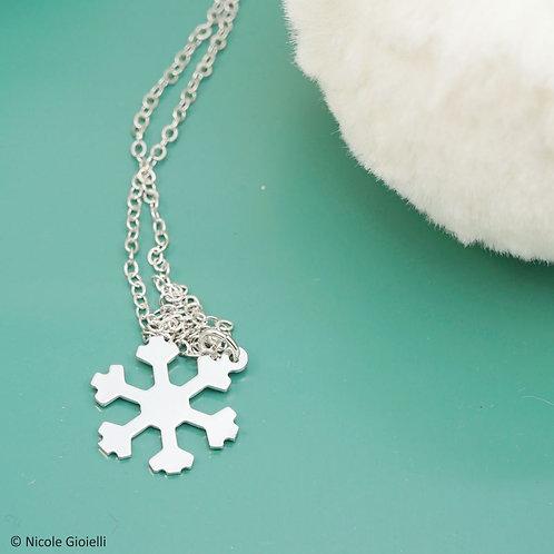 Collana fiocco di neve mignon