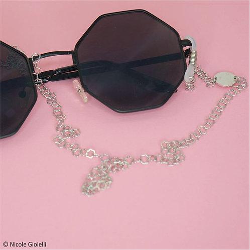 Catenella per occhiali maglia stella