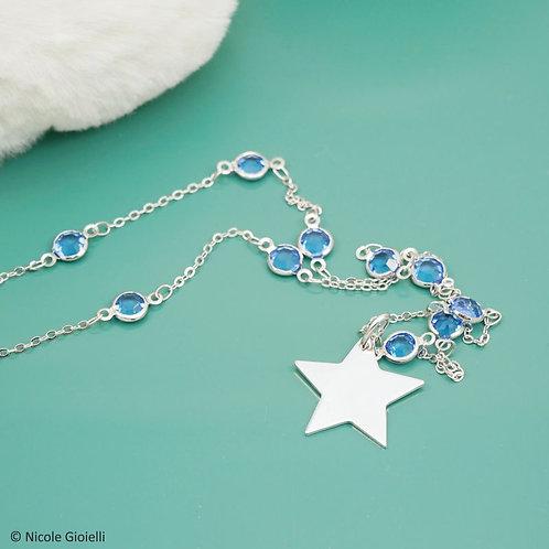 Collana lunga cristalli stella