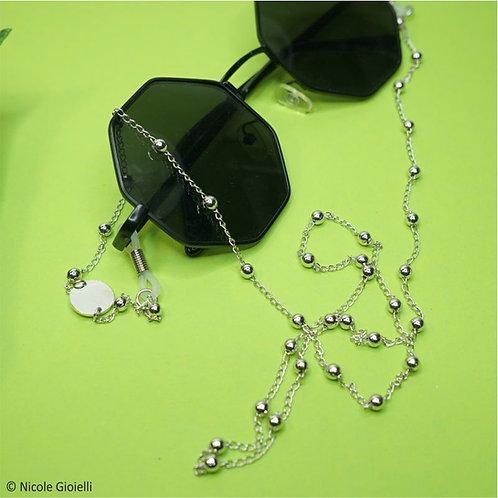 Catenella per occhiali rosario