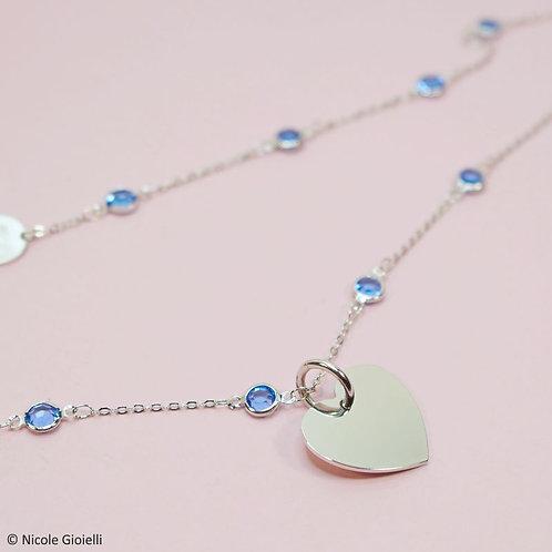 Collana lunga cristalli cuore