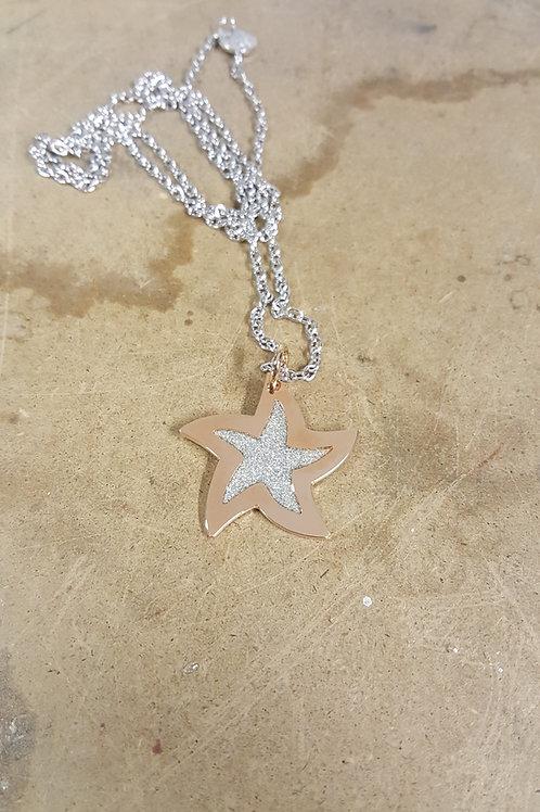 Collana stella glitter