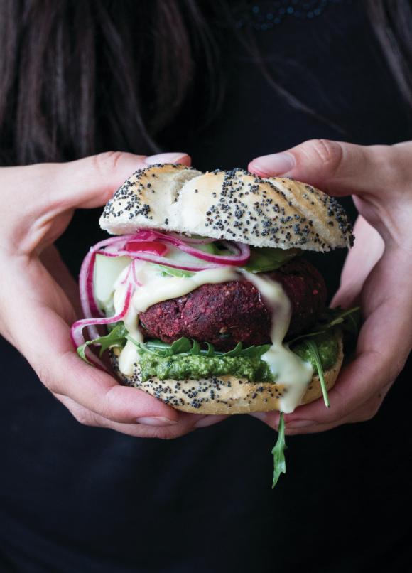 vegan burger, veggie burger, vegan recipe